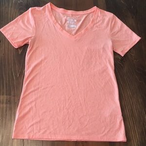 Nike Light Orange/Coral V-Neck Tee